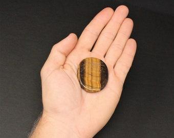 Tiger Eye Pocket Stone MEDIUM (Smooth Polished Worry Stone, Gemstone, Palm Stone, Pocket Stone)