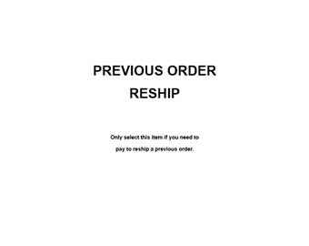 Reship My Order!