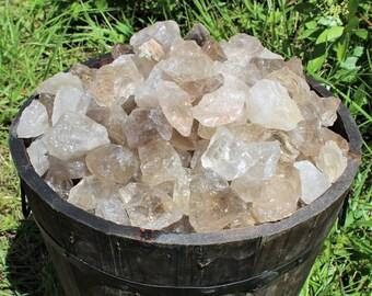Smoky Quartz Rough Natural Stones: Choose 4 oz, 8 oz, 1 lb, 2 lb or 5 lb Bulk (Raw Smoky Quartz, Rough Smoky Quartz, 'A' Grade)