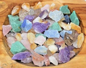 Rough Natural Mixed Quartz Premium Grade Stones, Beautiful Assortment: Choose 4 oz, 8 oz, 1 lb, 2 lb, 5 lb Bulk Lot (Quartz Crystals)