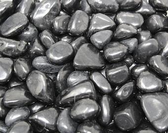 Shungite Tumbled Stones, Medium: Choose 4 oz, 8 oz or 1 lb Bulk Lots  ('A' Grade, Tumbled Shungite, Shungite Tumbled, EMF Protection)