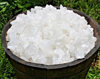 Clear Quartz Rough Natural Stones: Choose 4 oz, 8 oz, 1 lb, 2 lb or 5 lb Bulk (Raw Clear Quartz, Rough Clear Quartz, 'A' Grade)