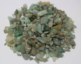 Green Aventurine Semi Tumbled Gemstone Mini Chips 5 - 15 mm: Choose 2 oz, 4 oz, 8 oz or 1 lb Loose Bulk Lots (Green Aventurine Chips)