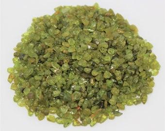 Peridot Semi Tumbled Gemstone Mini Chips 5 - 15 mm: Choose 2 oz, 4 oz, 8 oz or 1 lb Loose Bulk Lots (Peridot Chips)