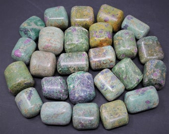 Ruby Fuchsite Tumbled Stones: Choose How Many Pieces ('A' Grade, Tumbled Ruby Fuchsite)
