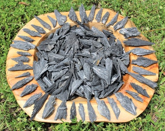 Black Kyanite Blades: Choose 4 oz, 8 oz or 1 lb Bulk Lots (Black Kyanite Fans, Wands)