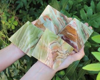 "Green Onyx Crystal Pyramid, Large 3"" Crystal (Healing, Onyx Pyramid, Green Onyx Pyramid)"