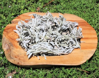 Loose White Sage Smudge Leaves & Clusters: Choose 1, 2, 4, 8 oz, 1 or 2 lb Bags (Sage Smudge Energy Cleansing House Blessings)