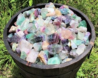 Fluorite Raw Natural Stones: Choose 4 oz, 8 oz, 1 lb, 2 lb, 5 lb Bulk Lot (Raw Fluorite, Rough Fluorite)