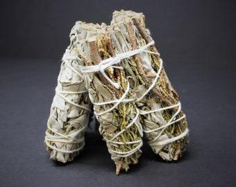 White Sage & Juniper Smudge Sticks: Choose How Many! (Sage Bundle, Smudge Stick, Energy Cleansing Bundle)
