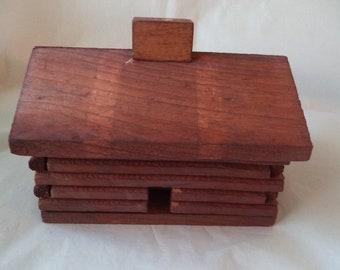 Paine's Super Log Cabin Incense Burner with Smoking Chimney + 10 Fir Balsam Logs (Decorative Incense Holder) Christmas Incense