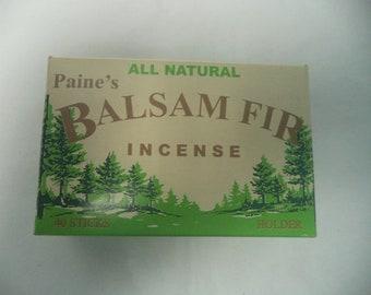 Paine's Balsam Fir Christmas Tree Incense: 40 Sticks with Holder / Burner (Paines Balsam Fir Incense)