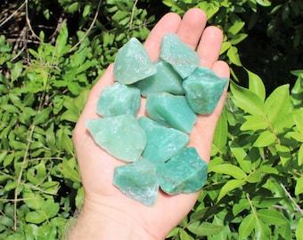 Green Aventurine Rough Natural Stones: Choose How Many Pieces ('A' Grade, Green Quartz, Raw Green Aventurine)