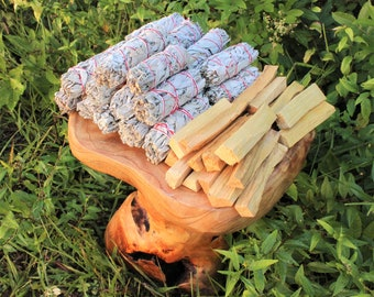 White Sage + Palo Santo Wholesale Bundle: 20 Palo Santo Wood & 20 White Sage Smudge Sticks (Bulk Smudge Bundle)
