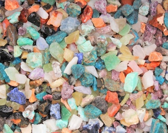 Rough Assorted Chips Mixed Lots: Gems Crystal Natural Crafters Gemstones - Choose 1/2 lb (8 oz), 1 lb, 2 lb or 5 lb (Mixed Gemstone Chips)
