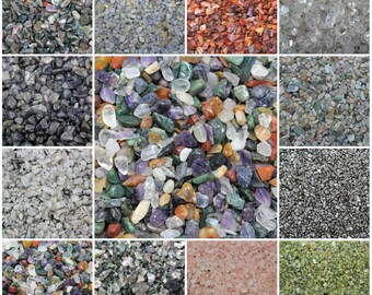 Loose Undrilled Semi Tumbled Stones, Mini Chips, 5 -15 mm: 1 oz bags (Gemstone Chips, Crystal Chips)