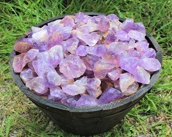 Rough Natural Amethyst (Brazil) Premium Grade Crystals: Choose 4 oz, 8 oz, 1 lb, 2 lb, 5 lb Bulk Lot (Raw Amethyst)