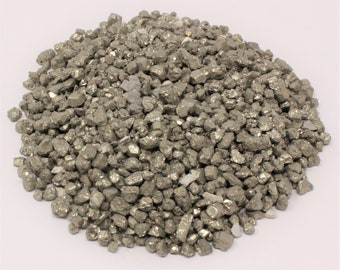 Pyrite Semi Tumbled Gemstone Mini Chips 2 - 10 mm: Choose 2 oz, 4 oz, 8 oz or 1 lb Loose Bulk Lots (Pyrite Chips)