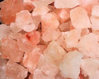 """Natural Himalayan Salt Rock Chunks: Large (1-2"""") Choose How Many Pieces! (Chunky Crystals, Pink Sea Salt)"""