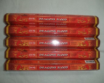 Hem Incense Sticks Dragons Blood - You Pick Amount: 20 40 60 80 100 or 120 Sticks (Dragon's Blood Incense Sticks)