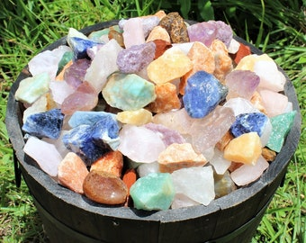 Rough Natural Gemstones, Premium Grade Brazil Mix - Beautiful Assortment: Choose 4 oz, 8 oz, 1 lb, 2 lb, 5 lb Bulk Lot