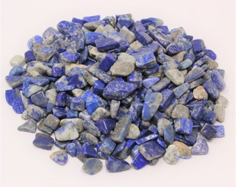 Lapis Semi Tumbled Gemstone Mini Chips 7 - 9 mm: Choose 2 oz, 4 oz, 8 oz or 1 lb Loose Bulk Lots (Lapis Chips)