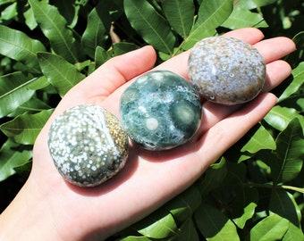 Ocean Jasper Hand Polished Stones: Choose How Many Pieces ('A' Grade, Polished Sea Jasper, Ocean Jasper Pebbles)
