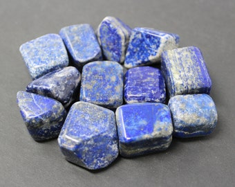 Lapis Tumbled Stones: Choose How Many Pieces ('A' Grade, Tumbled Lapis, Lapis Tumbled)