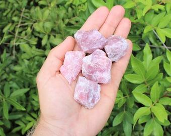 Madagascar Rose Quartz Rough Natural Stones: Choose How Many Pieces (Raw Rose Quartz, Pink Quartz,)