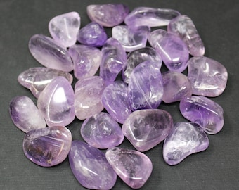 Amethyst Tumbled Stones: Choose How Many Pieces ('A' Grade, Tumbled Amethyst)