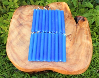 """Royal Blue 4"""" Chime Candles - Set of 10 Spell Candles (Spell Candles, Candle Magick, Wicca, Pagan, Altar)"""