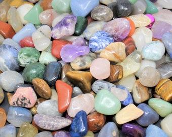 Assorted Mix Tumbled Stones: SMALL, MEDIUM or LARGE Sizes Wholesale Bulk Lots (Mixed Assorted Tumbled Stones)