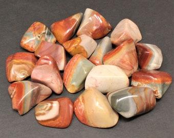 Desert Jasper Tumbled Stones: Choose How Many Pieces (Desert Jasper, Polychrome Jasper)
