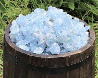 Bulk Celestite Rough Natural Stones: Choose 4 oz, 8 oz, 1 lb, 2 lb or 5 lb (Raw Celestite, Rough Celestite, 'A' Grade, Crystals)
