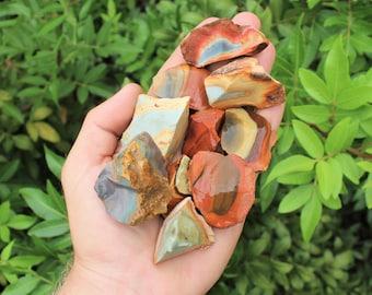 Desert Jasper Rough Natural Stones: Choose How Many Pieces (Desert Jasper, Rough Desert Jasper, Polychrome Jasper)