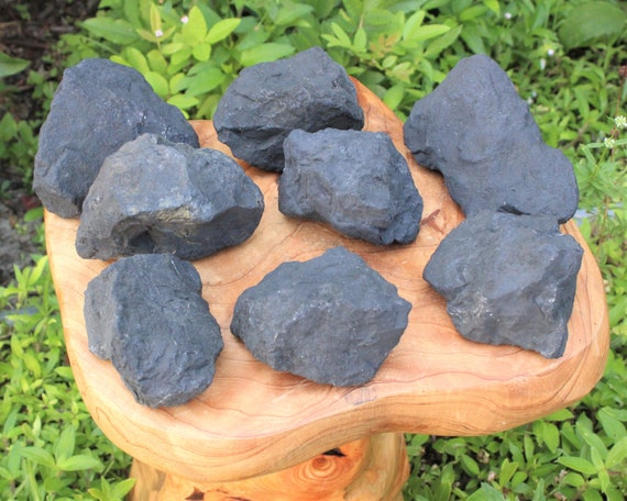 Lot of 10 Pieces Natural Rough Shungite Raw Healing Stone Russia