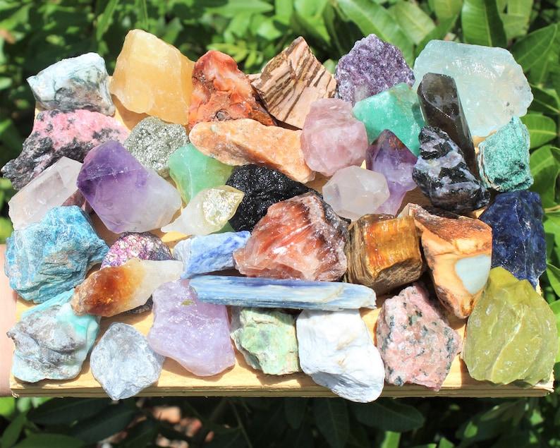 1 lb Bulk Lot Natural Rough Clear Quartz Crystals Raw Gemstone Healing 16 oz