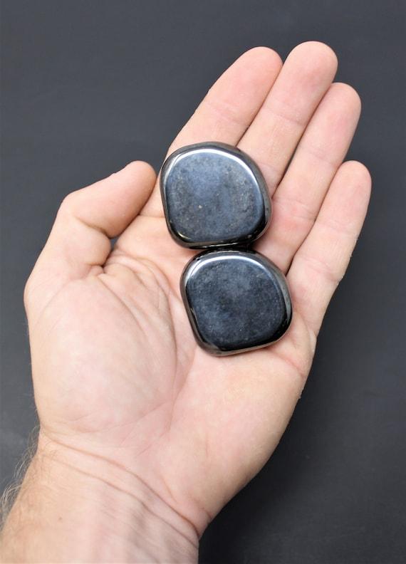 Magnetic Hematite Palm Stone Round Polished Bulk Wholesale Lot Of 1 LB