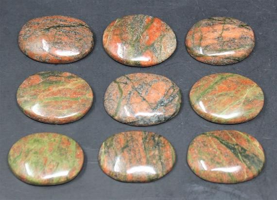 Smooth Polished Worry Stone Gemstone Palm Stone Unakite Pocket Stone