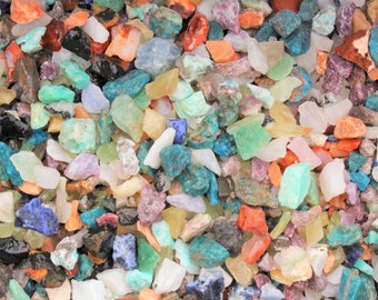 Rough Gemstone Chips Assorted Lots: Gems Crystal Natural Crafters Stones - Choose 8 oz, 1 lb, 2 lb or 5 lb (Mixed Gemstone Chips, Raw)