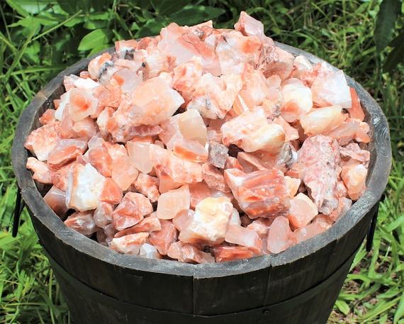 1lb Wholesale Red Pink Aventurine Rough Natural Stones Bulk Raw Chunks