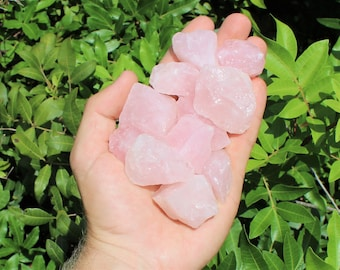 Rose Quartz Rough Natural Stones: Choose How Many Pieces (Raw Rose Quartz, Rough Rose Quartz, Love Stone, Healing Crystal)