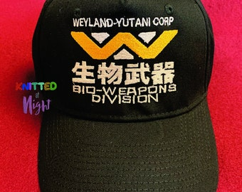 7b6c204077977 Weyland Yutani Bio Weapon Division Embroidery Adjustable Baseball Hat  Embroidered Inspired by Alien Movie Cap