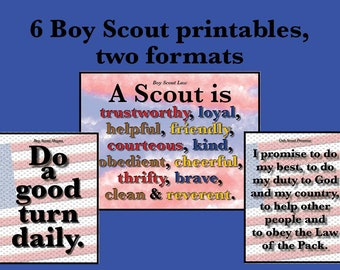 photo regarding Cub Scout Flag Ceremony Printable titled Cub scout oath Etsy