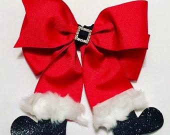 Christmas Hair BowRed velvet bows\u2022Christmas bow\u2022sequin bow\u2022holiday bow\u2022headband\u2022hand tied bow\u2022handtied hair bow\u2022school girl hair bow