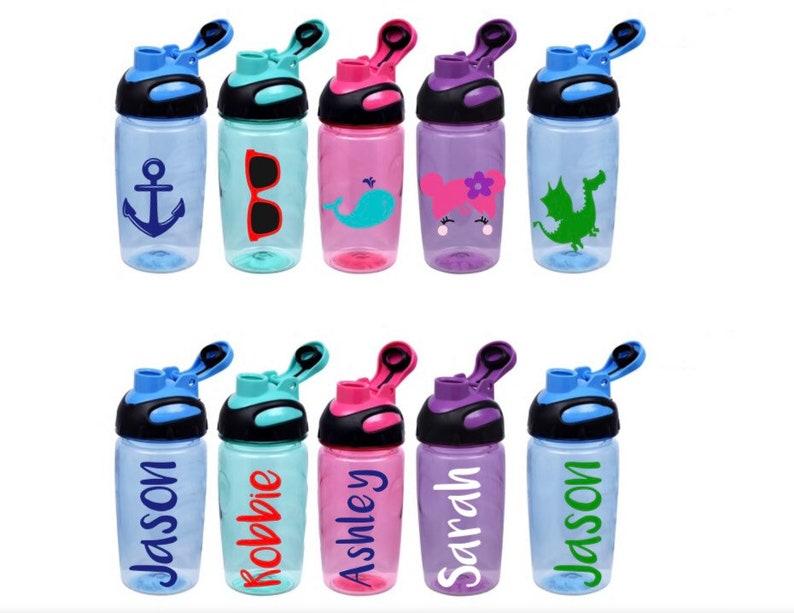 Personalized Kids Summer Water Bottles Toddler Personalized Water Bottles Kids Water Bottles Kids Beach Pool Water Bottles Summer