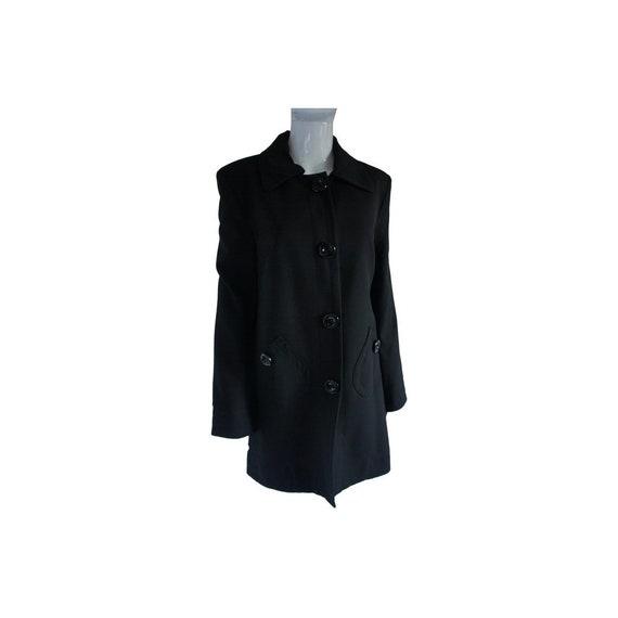 Sinequanone Black Spring-weight Swing Coat