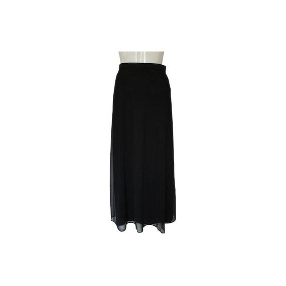 Tadashi Shoji Black Tulle Skirt
