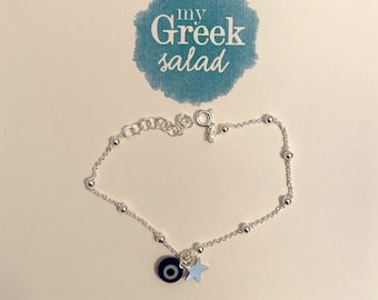 Silver bracelet with Evil Eye, Stellina