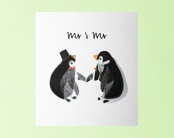 Mr and Mr LGBT Wedding Card